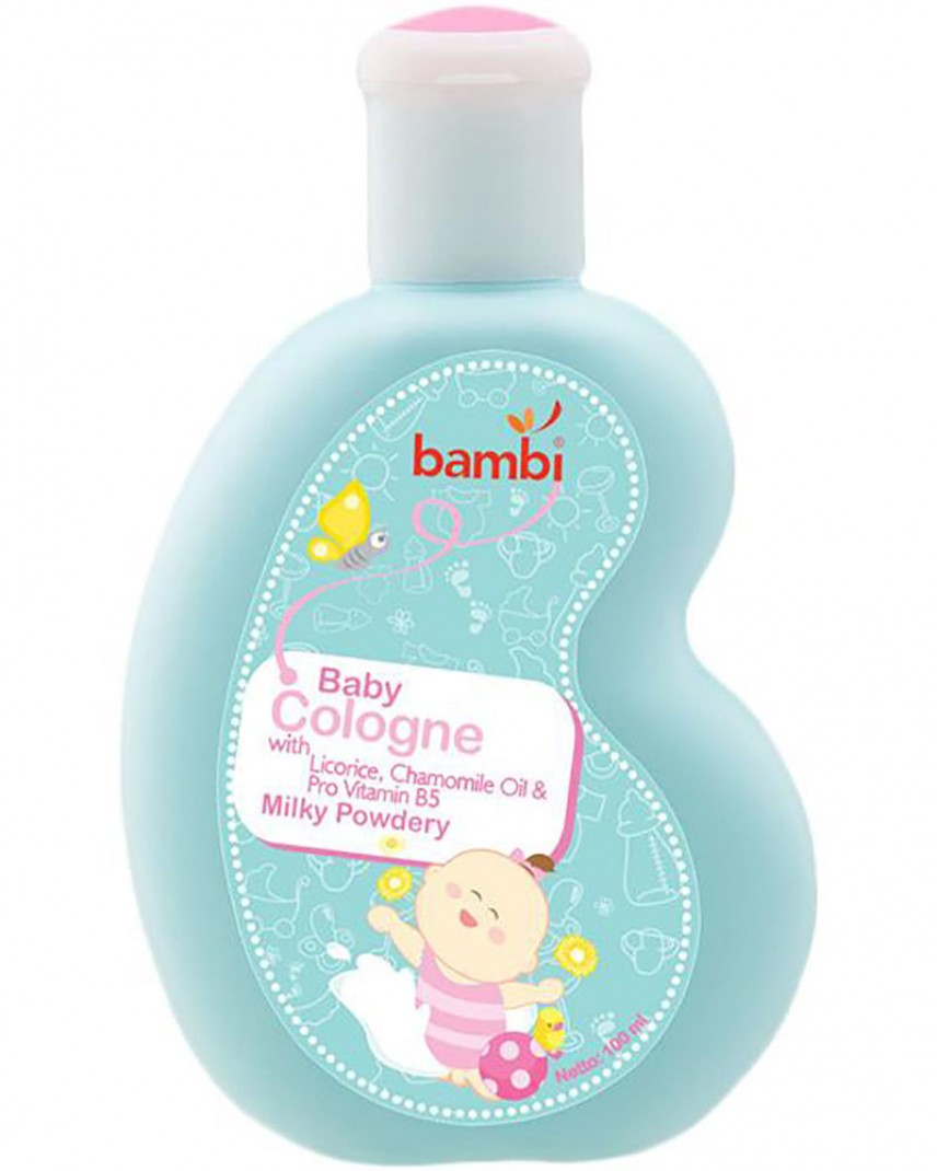Jual Bambi Baby Cologne Milky Powdery 100ml Sleek Laundry Detergent 450ml